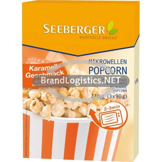 Seeberger Mikrowellen-Popcorn Karamell 270g
