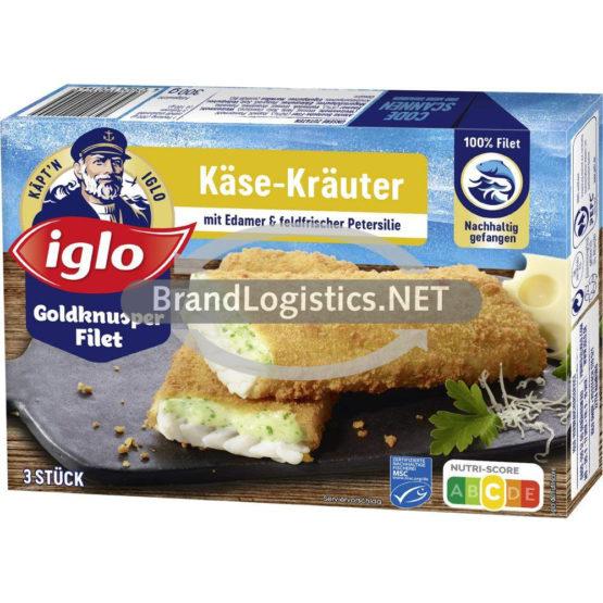 iglo Goldknusper-Filet Käse-Kräuter 300g