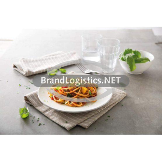 Blue Box Spaghetti mit Barilla Basilico Sauce und angebratenem Gemüse