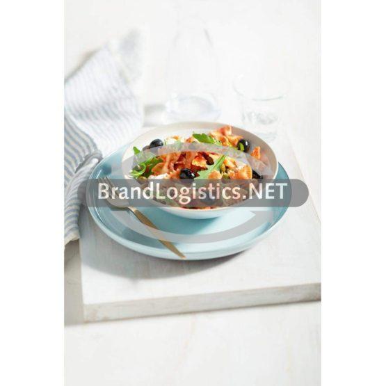 Farfalle-Salat mit Rucola, Oliven und Mozzarella