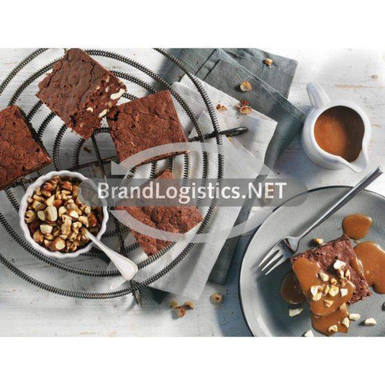 Brownies mit Salzkaramell-Creme und Nüssen