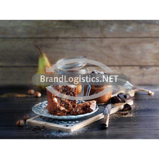 Nuss-Birnen-Kuchen im Glas