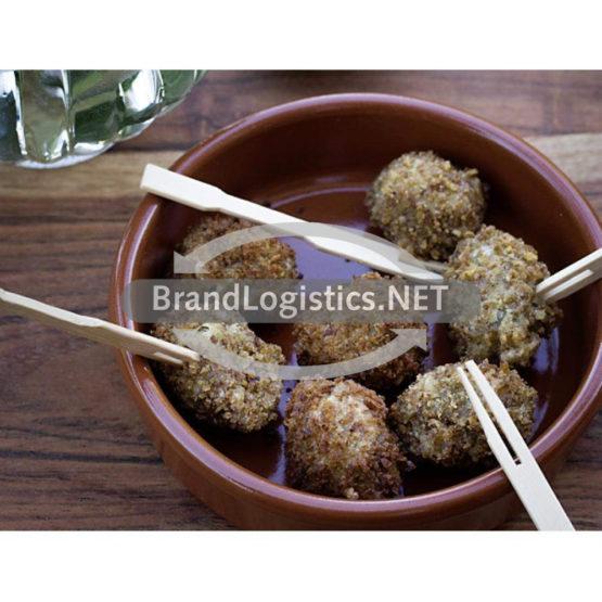 Frittierte Oliven im Fitnessbrotmantel mit Kräuterfüllung