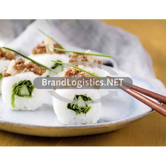 Kräutersushi mit Vollkorn-Brot-Speck-Topping