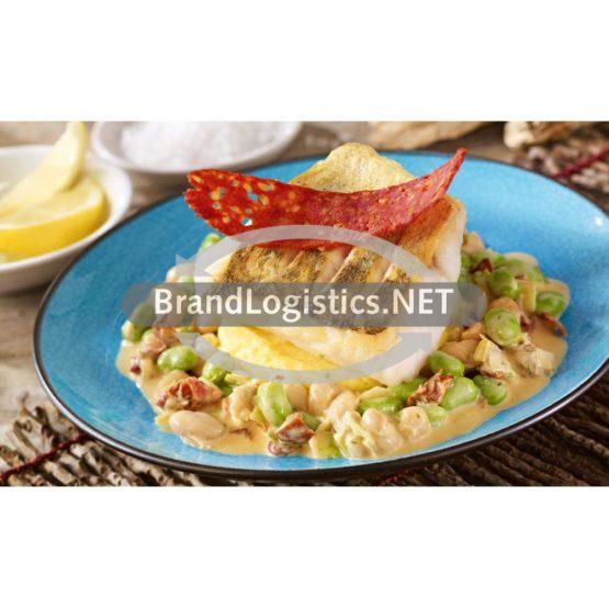 Bohnenragout mit Zander