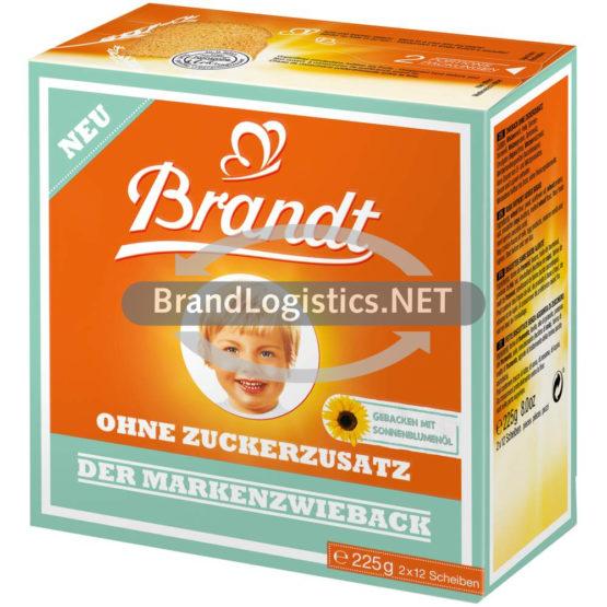 Brandt Der Markenzwieback ohne Zuckerzusatz 225 g