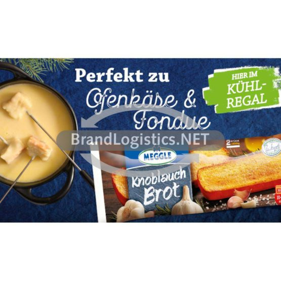 Meggle Knoblauch Brot zu Käse Waagengrafik 800×468