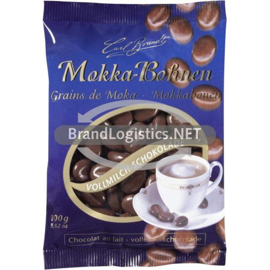 Carl Brandt Mokka-Bohnen Vollmilch-Schokolade 100 g