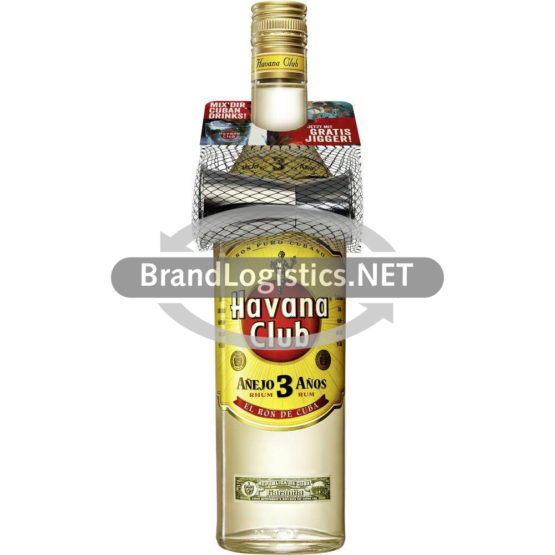 Havana Club 3 Años 40% vol. 0,7l + Jigger