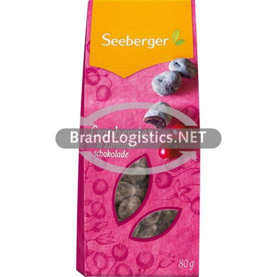 Seeberger Cranberries in Zartbitterschokolade 80g