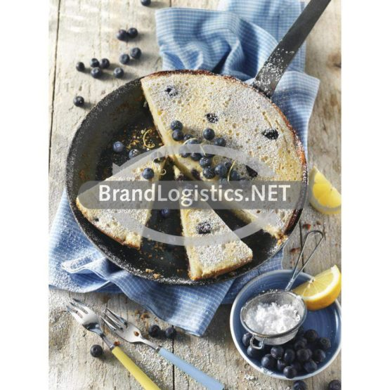 Zitronen-Heidelbeerkuchen aus der Pfanne