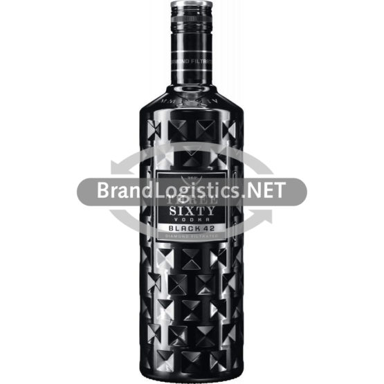 Three Sixty Vodka Black 42% vol. 0,7 l