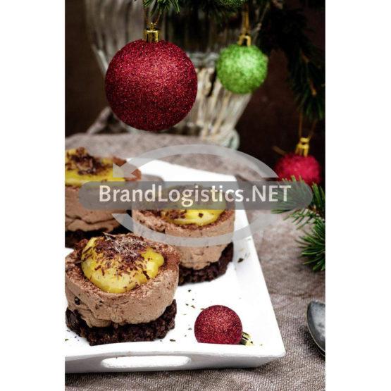 Weihnachtlicher Cheesecake mit Pumpernickelboden und Orangencreme