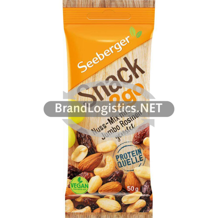 Seeberger Snack 2go Nuss-Mix mit Jumbo Rosinen 50 g