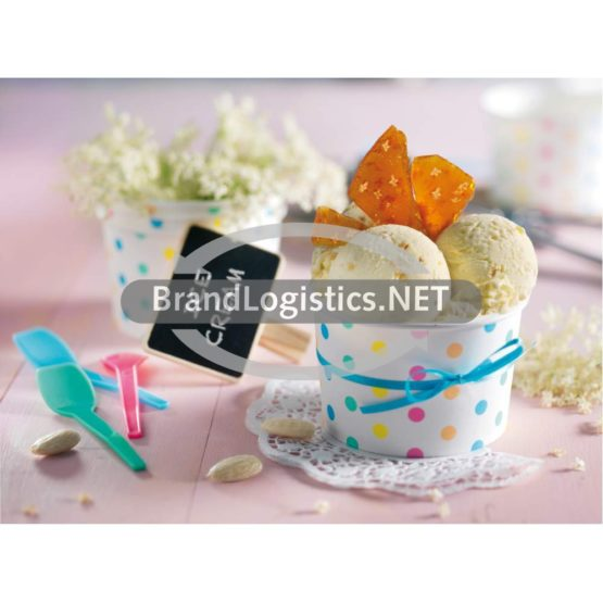 Joghurt-Holunderblüten-Eis mit Mandeln und Karamell