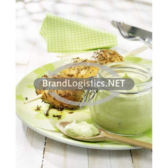 Kartoffelspieße mit Avocado-Basilikum-Dip