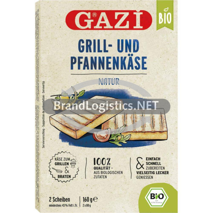 Gazi Bio Grill- und Pfannenkäse Natur 2 x 80g