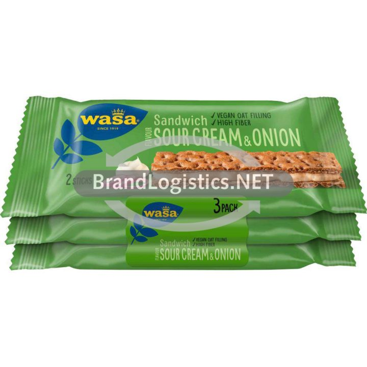 Wasa Sandwich Sour Cream & Onion 3x32g