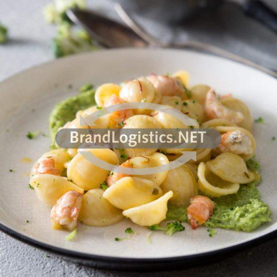 Orecchiette mit Garnelen, Brokkoli und Safran