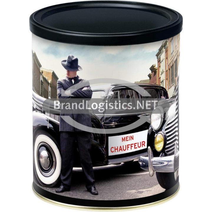 """Mestemacher RETRO-DESIGN-BROTDOSE """"Mein Chauffeur"""" mit WESTFÄLISCHEM Pumpernickel geschnittene Scheiben 500 g"""