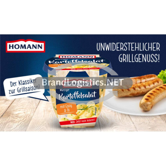 Homann Würziger Kartoffelsalat mit Öl&Essig 400g Waagengrafik 800×474
