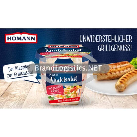 Homann Pikanter Nudelsalat 375g Waagengrafik 800×474