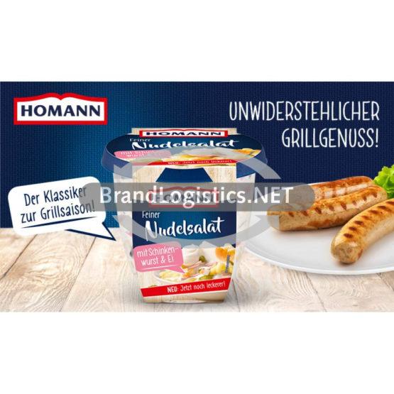 Homann Feiner Nudelsalat 400g Waagengrafik 800×474