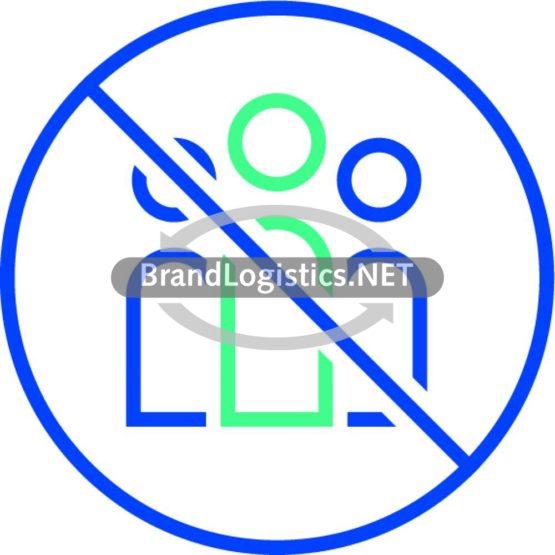 Piktogramm Keine Gruppenbildung