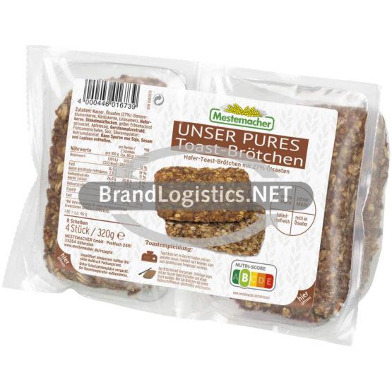 Mestemacher Unser Pures Toast-Brötchen 320 g