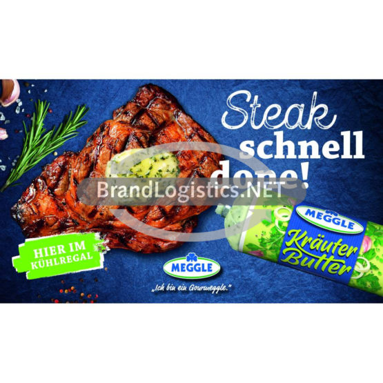 Meggle Kräuter-Butter Riegel zu Fleisch Waagengrafik 800×474