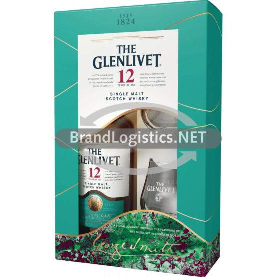 Glenlivet 12 Jahre 40% GP 0,7l + 2 Tumbler