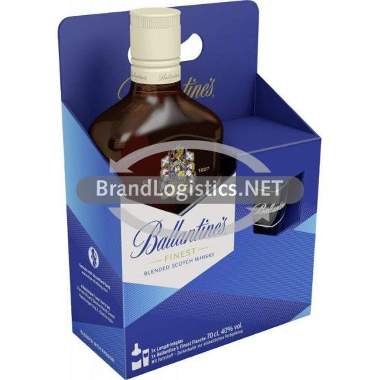 Ballantine's Finest 40% 0,7l + Glas