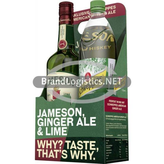 Jameson 40% 0,7 l + Schweppes Ginger Ale 1 l