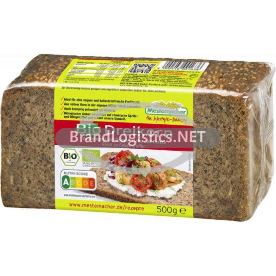 Mestemacher Bio Dreikornbrot 500 g