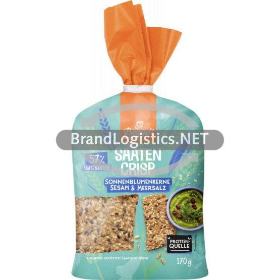 Brandt Saaten Crisp Sonnenblumenkerne, Sesam & Meersalz 170 g