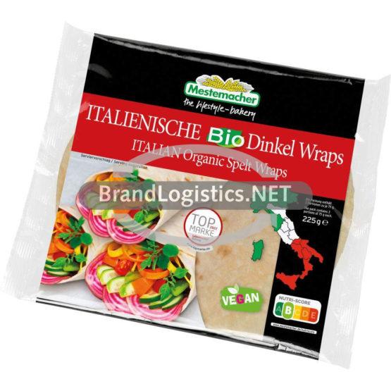 Mestemacher ITALIENISCHE Bio Dinkel Wraps 225 g