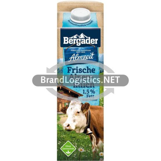 Bergader Almzeit Frische Alpenmilch 1,5% Fett 1 l