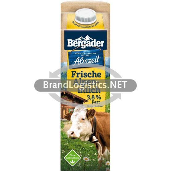 Bergader Almzeit Frische Alpenmilch 3,8% Fett 1 l
