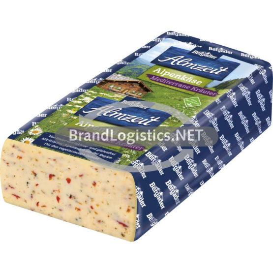 Bergader Almzeit Alpenkäse mediterane Kräuter Brote 45%