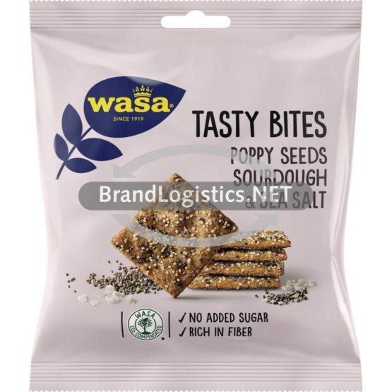 Barilla Wasa Tasty Bites Poppy Seeds, Sourdough & Sea Salt 50 g