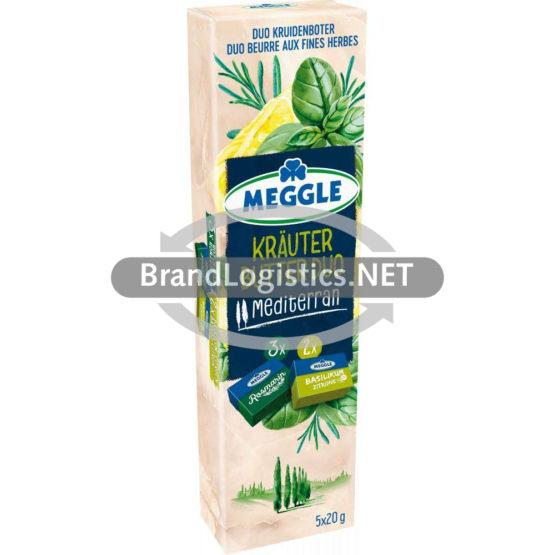 Meggle Kräuter-Butter Duo Riegel Mediterran 5×20 g
