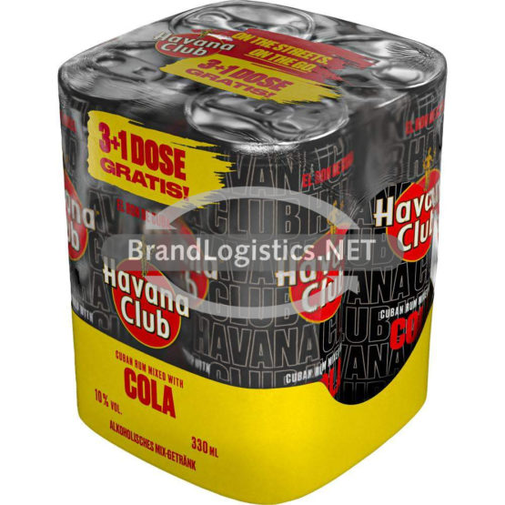 Havana Club & Cola 10% vol. 330 ml Multipack 3+1