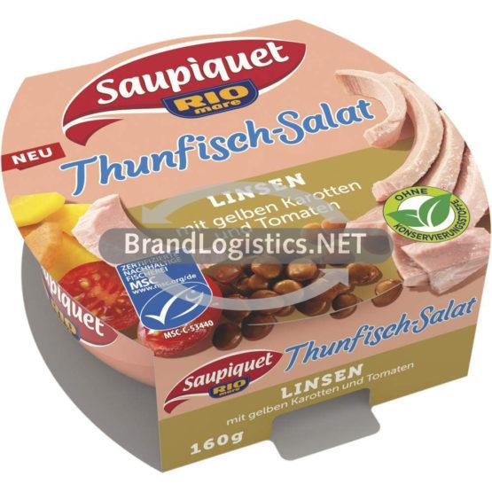 Saupiquet Rio Mare Thunfisch-Salat Linsen MSC 160 g