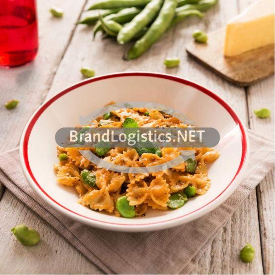 Barilla Collezione Farfalle mit dicken Bohnen, Pecorino und Pesto Ricotta e Noci