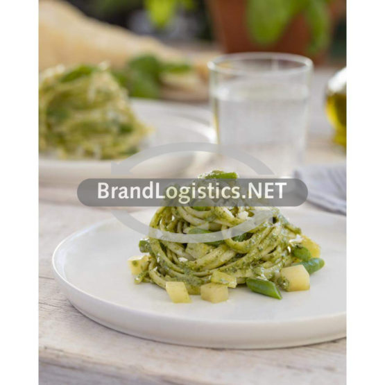 Barilla Collezione Linguine mit Pesto alla Genovese, grünen Bohnen und Kartoffeln