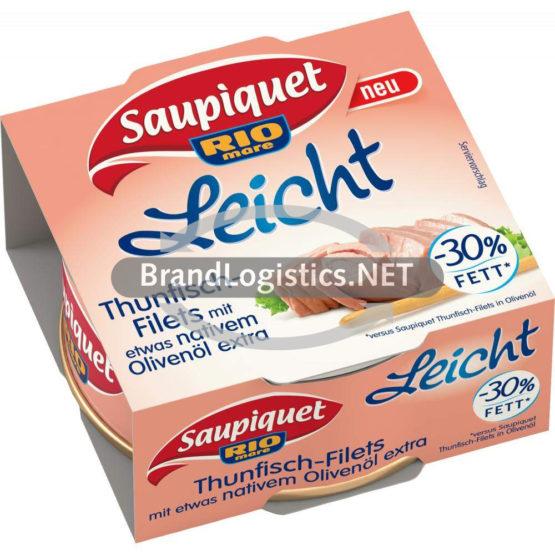 Saupiquet Rio Mare Leicht Thunfisch-Filets mit etwas nativem Olivenöl extra 120 g
