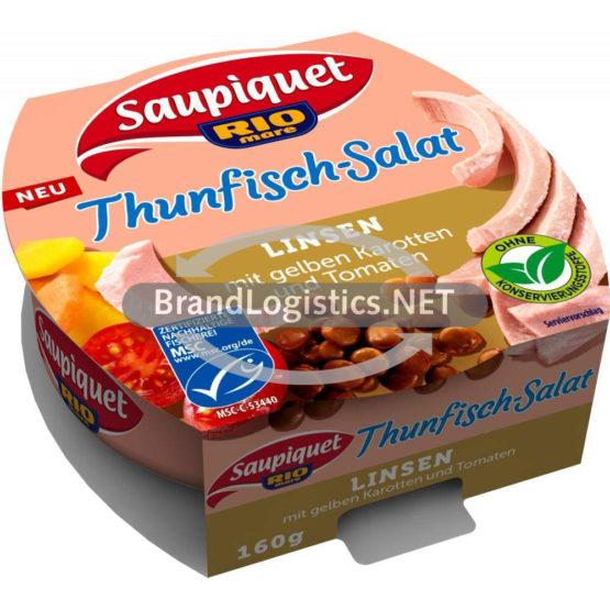 Saupiquet Rio Mare Thunfisch Salat Linsen MSC 160 g
