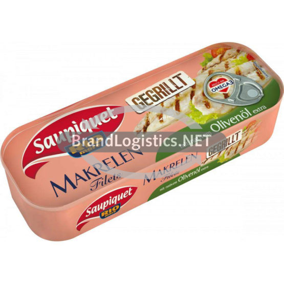 Saupiquet Rio Mare Gegrillte Makrelen-Filets mit nativem Olivenöl extra 120 g