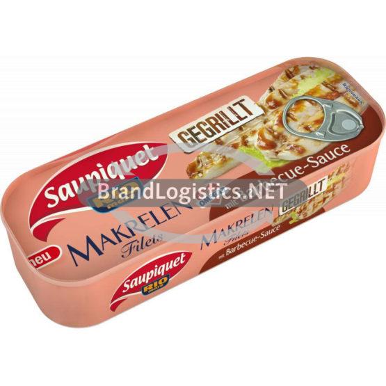 Saupiquet Rio Mare Gegrillte Makrelen-Filets mit Barbecue-Sauce 120 g