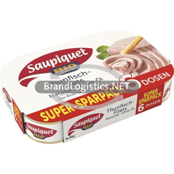 Saupiquet Rio Mare Thunfisch-Filets Naturale ohne Öl 6×80 g